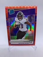 2020 Panini Donruss Optic Devin Duvernay Rated Rookie Red Hyper RC