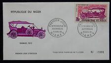"""60L** Enveloppe 1er jour / FDC République du NIGER (Voiture / """"DAIMLER"""")"""