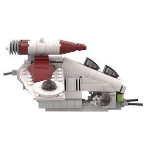 MOC-47874 Republic Gunship for Kids Adult Midi Scale LAAT/i Building Blocks Toys
