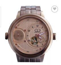 Curtis & Co. Big Dual Time Automatic & Quartz Sapphire Crystal Watch +Wood Bezel