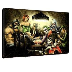 All The Aces batman joker canvas wall art Wood Framed Ready to Hang XXL
