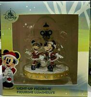 🎅 2020 Disney Parks Light Up Figurine Christmas Holiday Mickey & Minnie Mouse