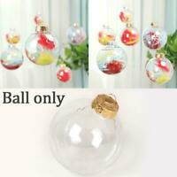 Plastic Ball Baubles Sphere Fillable Christmas Tree Hanging Ornament Home Decor