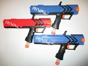 Nerf Rival XV-700 Blue & Red 3 Gun Lot