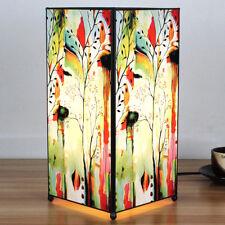 Lampada artistica da tavolo in vetro e metallo arredo casa, modello natura