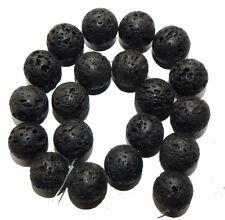 "18mm Volcanic Lava Rock Natural  Round Beads 40cm 15""  Stone"
