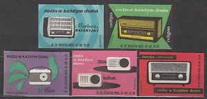 POLAND 1962 Matchbox Label - Cat.Z#242/46I  Radio in every home (II)