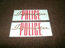 1963 FORD POLICE INTERCEPTOR VALVE COVER DECALS PAIR