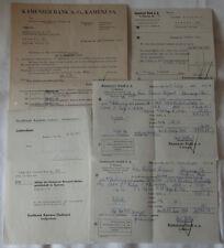 KAMENZ - KONVOLUT von 5 RECHNUNGEN - Stadtbank bzw. Kamenzer Bank (12596/261N)