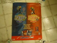 The Legend of Zelda Oracle of Ages / Seasons Game Boy Color Store Display Poster