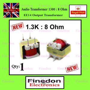 Audio Transformer 1300 : 8 Ohm EE14 Output Transformer UK Seller