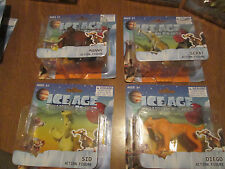 ICE AGE COLLISION COURSE LOT 4 FIGURES MANNY,DIEGO,SID & SCRAT SET COMPLETE RARE