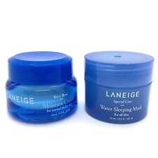 LANEIGE Water Bank Moisture Cream 10ml & Sleeping Mask .5 oz. / 15 mL Travel Set