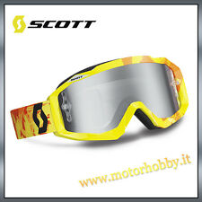 OCCHIALE MASCHERA CROSS ENDURO SCOTT MX HUSTLE SCRIBBLE GREEN ORANGE LENS CHROME