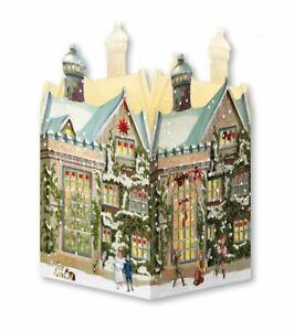 Advent Calendar Victorian Style Christmas town house tea light lantern b
