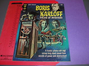 BORIS KARLOFF Tales of Mystery #14 Gold Key June 1966 Hi Grade / Paris Liberte'