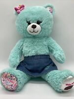 Build A Bear Girl Scouts Cookies Thin Mints Plush Teddy Denim Skirt BABW Green