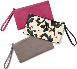 New Martha Stewart Home Office Avery Wristlet Make Up Phone Pouch Bag Purse Case