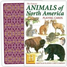 Heritage Playing Cards - The Famous Animals of North America - NEW & SEALED
