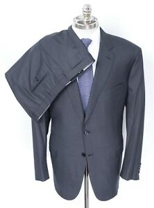NWT BRIONI Colosseo Charcoal Super 160's Wool 2 Btn Slim Fit Suit 54 R (EU 64)