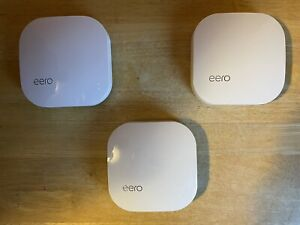 Eero Pro 2nd Generation Mesh WiFi System, White - Set of 3 excellent condition