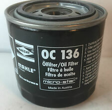 Genuine MAHLE Replacement Screw-on Engine Oil Filter OC136, Alapha Romeo,Lancia