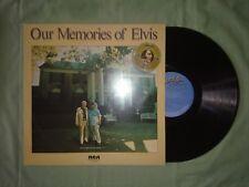 ELVIS PRESLEY OUR MEMORIES OF ELVIS LP (M) 1979