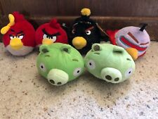 """Angry Birds plush Purple Space, Bomb, Red, Girl, 2 Pigs stuffed animals 5"""""""