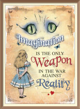 Alice in Wonderland Imagination Is The Only Weapon Wall Art Print Poster A4
