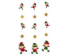 6 Christmas Elf Hanging Party Decorations   Christmas Party Decorations