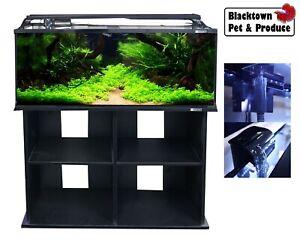 AquaOne Horizon 130 Litre 3-Ft Fish Tank Aquarium w Stand, Light, Heater, Filter