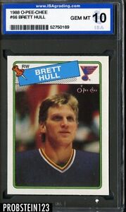 1988 O-Pee-Chee OPC #66 Brett Hull St. Louis Blues ISA 10 GEM MINT
