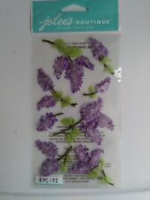 Jolee's Boutique Dimensional Stickers Lovely Lilacs 8 pieces