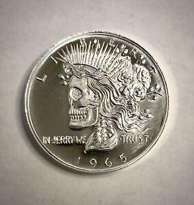 Grateful Nation Dead Head 1oz Fine Silver Round Ron Landis Peace Dollar