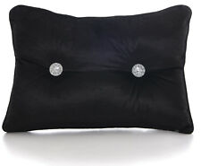 Chenille Black Boudoir Cushions Luxury Diamante Centre Filled Scatter Cushion