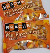 2 BAGS BRACH'S Candy Corn 5 oz PIE FAVORITES Apple Pie & Pumpkin Pie  Exp. 7/20