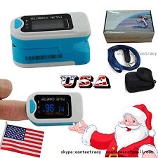 us seller Fingertip Pulse Oximeter,SpO2,Heart Rate,Oxygen Saturation,blue,FDA,CE