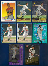 Chippper Jones Lot of 16 Rookie Card, Inserts, Parallels, 1991-2008 Braves