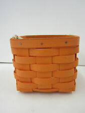 Longaberger 2010 Summer Brights Square Basket Bright Orange New Retired