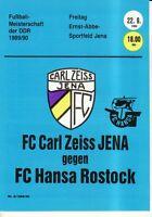 OL 89/90 FC Carl Zeiss Jena - FC Hansa Rostock (RS-B)
