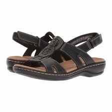 b78b7ac7d Clarks Solid Sandals   Flip Flops for Women US Size 9