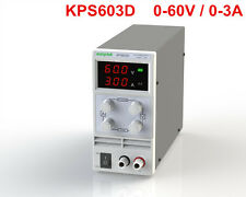 Mini Adjustable Switch DC Power Supply KPS603D Output 0-60V 0-3A AC110-220V