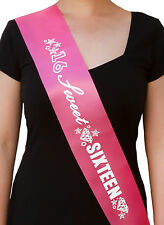 Sweet 16 Schärpe - Geburtstags Schärpe zum 16. Geburtstag Feier