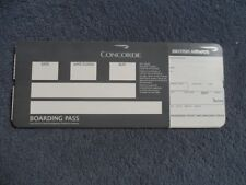 British Airways Concorde Boarding Pass March 2002 Last Issue