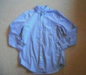 """Mens Shirt-VINEYARD VINES-blue/white check cotton """"classic fit"""" button-down ls-S"""