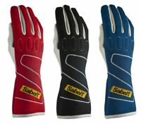 FIA Sabelt Gloves Touch E (FG-310) Red/Black/Blue Racing Rally CLEARANCE SALE!