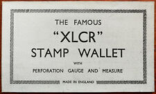 "Vintage Famous ""XLCR"" Stamp Wallet with Perforation Guage and Measure"