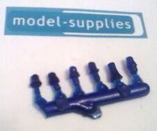 Set of 6 transparent blue plastic beacons for restoring die cast models