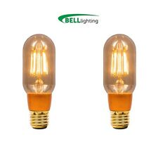 2x 4w LED Vintage Antiguo Tubular ES ámbar 2000k Blanco Cálido Dimm (BELL 01501)
