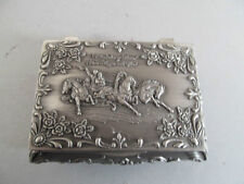 Pewter Ring Trinket Box With Hinged Lid